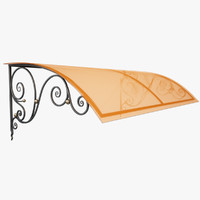wrought iron awning 3d model