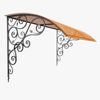 Wrought Iron Awning 7