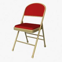 cushion folding chair 3d fbx