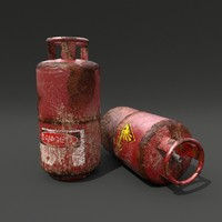 3ds max rusty gas bottle