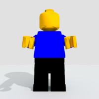 3d 3ds lego figure
