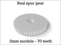 real spur gear 2mm 3d obj