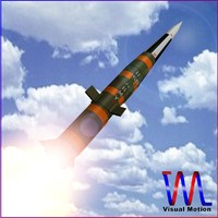 3d model mgm-31 pershing 1a missile
