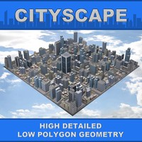 3d model cityscape street city