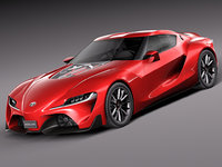 3d model toyota ft-1 concept