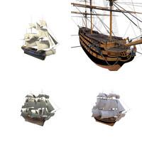 3d model hms ships