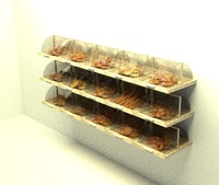 3d bakery display model