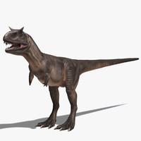 carnotaurus dinosaur cretaceous 3d max