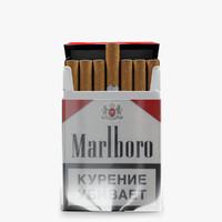 3dsmax marlboro cigarettes pack