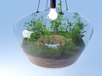 lamp glasshouse 3d model