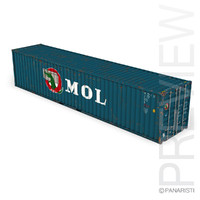 3d 40ft shipping container mol model