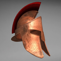 spartan helmet 3d model