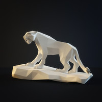 3d sculpture saber-toothed tiger model
