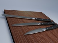 3d knives kitchen model