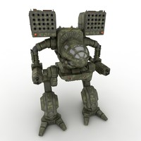 3ds max mechwarrior robot