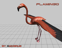 3ds flamingo animations