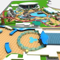 amusement park 3d max