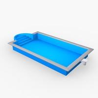 3d model of garden pool
