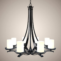 3dsmax modern chandelier lights
