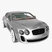 3d model bentley continental supersports 2010