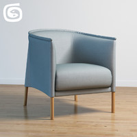 3d model of talo armchair