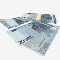 3d model 20 euro banknote