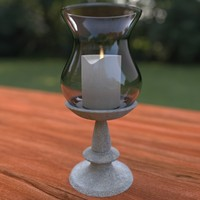 3d stone stand candle