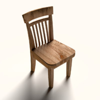 3ds wooden chair