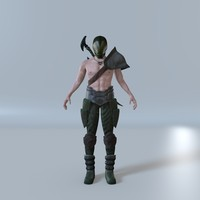 3d male fighter model