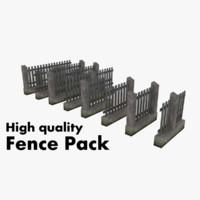 3d modular fence pack model