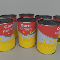 3d obj tinned corn