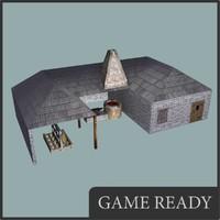 3d medieval blacksmith