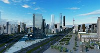 shanghai city buildings 3d max