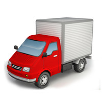 cargo truck 3d lwo
