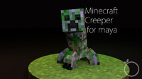 3d minecraft creeper model