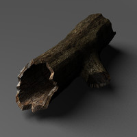 3d model hollow tree log