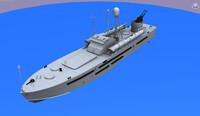 torpedo boat p123k komsomolec 3d model