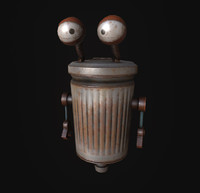 3d trash robot model
