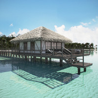 3d tropical beach model