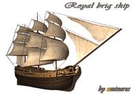 brig hms 3d model