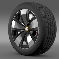 3d volkswagen beetle dune wheel