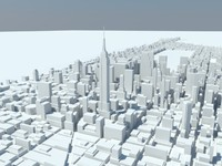 3d manhattan new york city