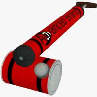 vintage insect sprayer 3d model