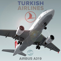 3d airbus a319 turkish airlines model