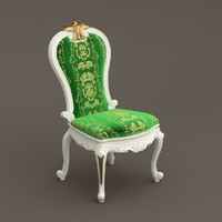 3d baroque chair orl-116b