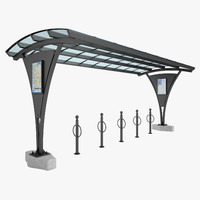 bicycle parking rack obj