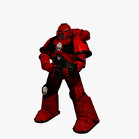 3d model blood angel marine