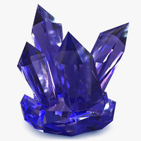 3d model realistic crystal