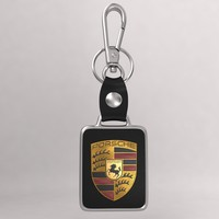3d model realistic porsche car key