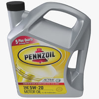 3d model of vehicle motor oil pennzoil